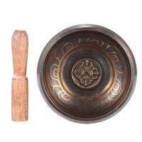 Exquisite 4.5 inch Handmade Tibetan Bell Metal Singing Bowl with Striker for Buddhism Buddhist Meditation & Healing Relaxation