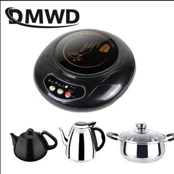 DMWD Huishoudelijke Mini Elektrische Inductie Fornuis Melk Water Verwarming Kachel Theepot Ketel Noodle Koken Plaat Koffie Heater Oven