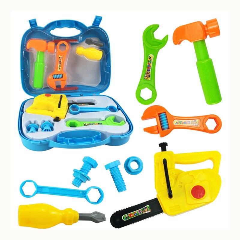 kids tool box plastic miniature tools set pretend play toy for boy children simulation repair. Black Bedroom Furniture Sets. Home Design Ideas