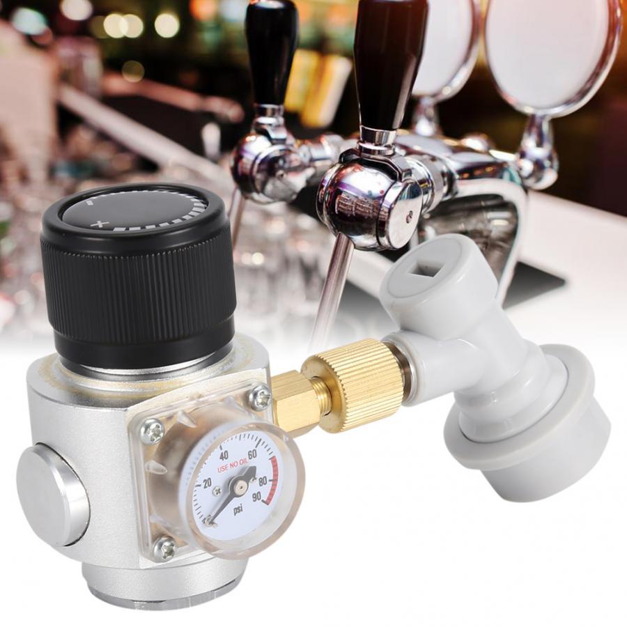 Beer Homebrew Home Brew CO2 Regulator Charger Kit Gas Disconnect Home Draft Beer Kegerator Home Brew Beer 0-90 PSI Cerveja