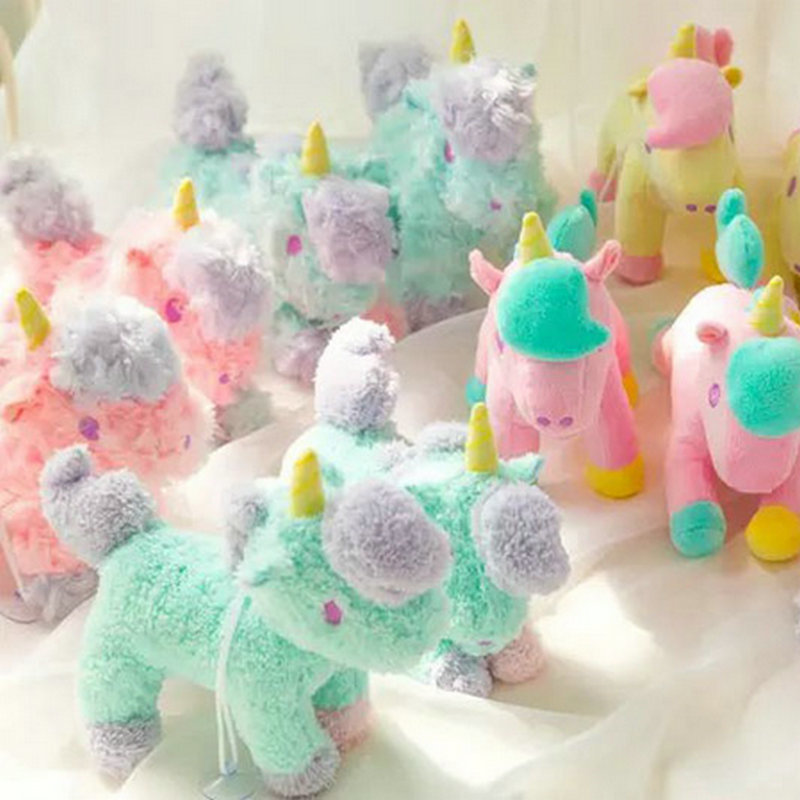 New style 10PCS/LOT Mixed  Cartoon gemini unicorn doll Horse plush toy sucker pendant bags pendant kids toys baby toys fancytrader new style giant plush stuffed kids toys lovely rubber duck 39 100cm yellow rubber duck free shipping ft90122