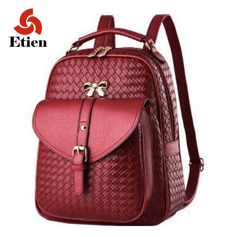 ФОТО  Backpack female models 2016 latest design pu leather backpacks luxury women backpack fashion shoulder bags for women