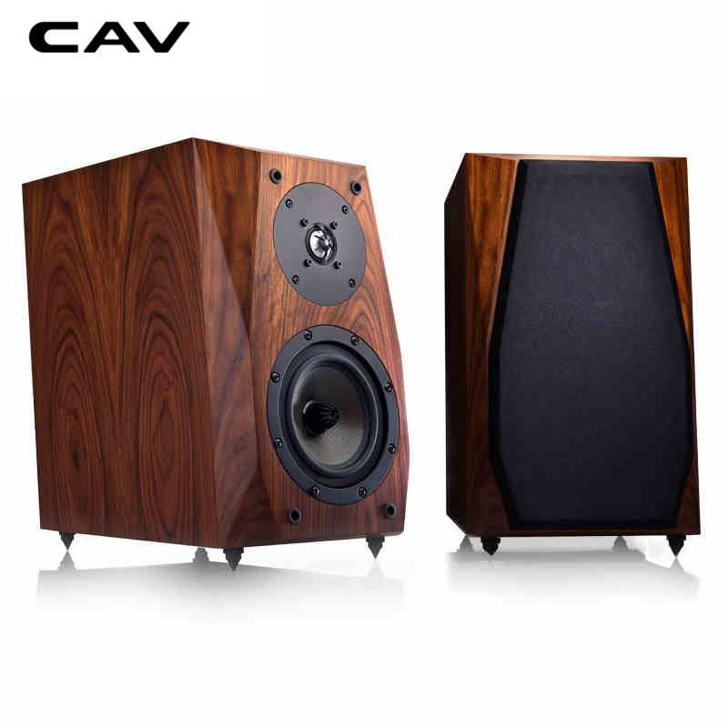 CAV FL-35 HI-FI Speaker Wired Bookshelf Speakers Wood HIFI Boxes Vented Box 2way Eton Tweeter Mid Bass High Fidelity Speakers plywood