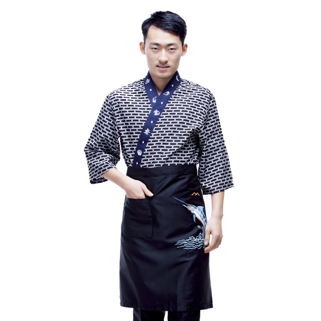 df8b1e32ec 2017 new Japanese chef uniform cook jackets Japan chef uniform Japanese  sushi women and man wear chef Servic work wear 3251