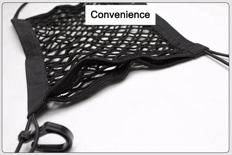 24X25cm Universal Elastic Mesh Net trunk Bag/Between Car organizer Seat Back Storage Mesh Net Bag Luggage Holder Pocket 7