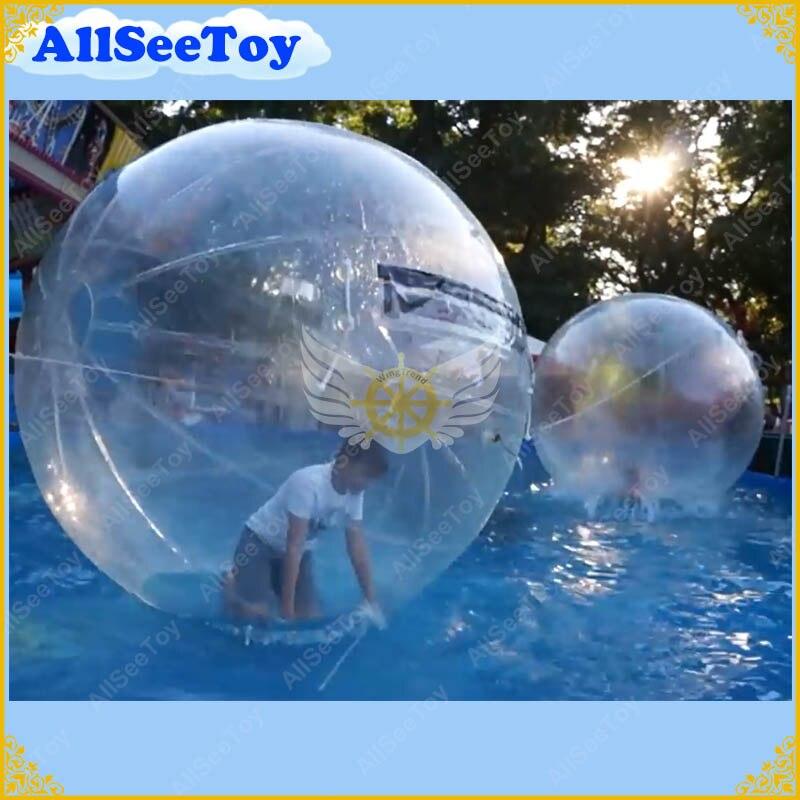 Горячая Распродажа игра надувная вода игровой мяч, надувной шар для ходьбы по воде для детей и взрослых, Т-молния прозрачный шар пузыря