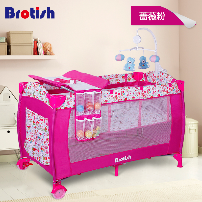 Baby bed multi functional folding portable game bed baby shaker bb cradle bed band baby travel bed 2017 new fashion simple and versatile small folding cradle bed ultra light portable crib holiday travel essential baby game bed