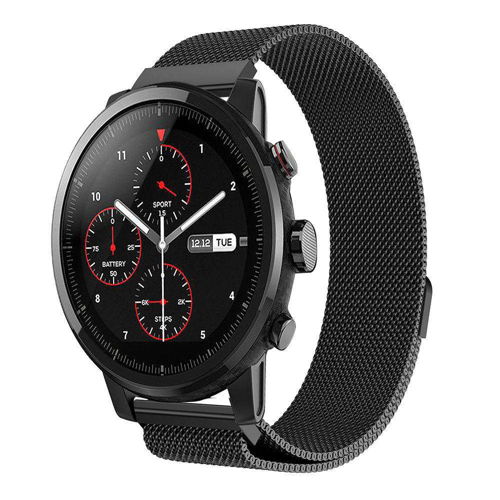 Milanese loop Stainless steel Wristband for Original Xiaomi Huami Amazfit Stratos 2 2s 2th strap bracelet smart watch Band 22mm in Watchbands from Watches