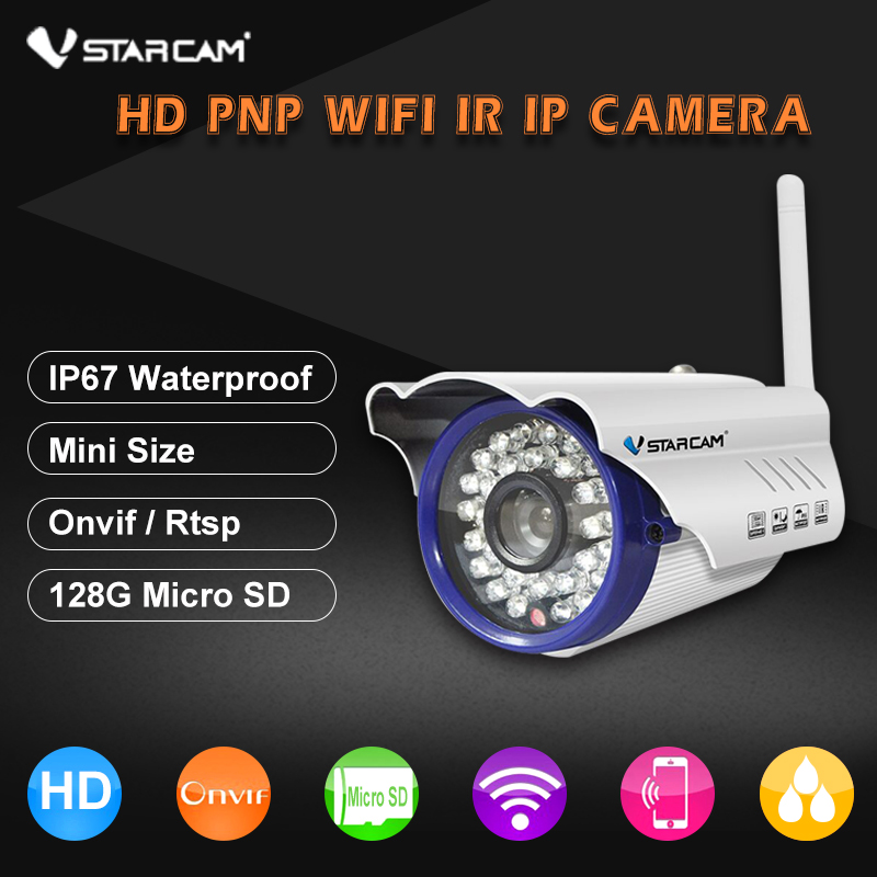 Vstarcam C7815WIP 720P HD Wireless Bullet Wifi IP Camera Outdoor Security Waterproof CCTV Compatibility And Support 128G TF Card wistino cctv camera metal housing outdoor use waterproof bullet casing for ip camera hot sale white color cover case