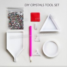 DIY TOOL Picking up pen Box Arranger tray plate accessories for nail decor crystals hot fix&Non HotFix strass Rhinestone glitter(China)