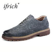 2018 Mens Casual Shoes Hot Sale Formal Dress Shoes Comfortable Male Split Leather Shoes Lace Up