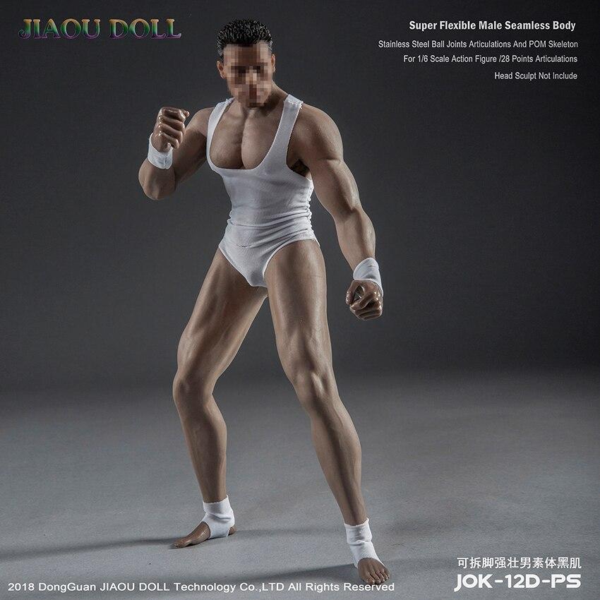 가부키 jiaou 인형 1/6 스케일 근육 강한 남자 슈퍼 유연한 원활한 몸과 금속 해골 jiaoudoll-에서액션 & 장난감 숫자부터 완구 & 취미 의  그룹 1