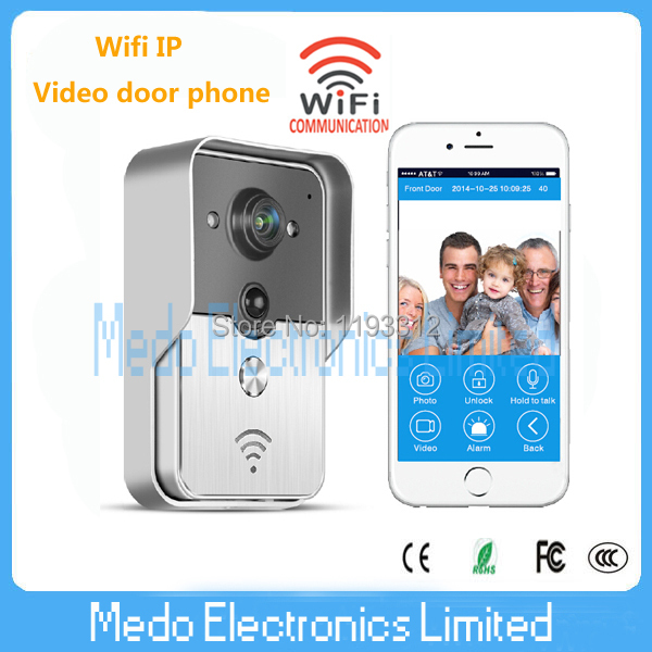 2015 New Wifi IP Video door phone for smartphone&tablets iso andriod app wireless video doorbell Access Control door intercom new dc5v wifi ibox2 mi light wireless controller compatible with ios andriod system wireless app control for cw ww rgb bulb