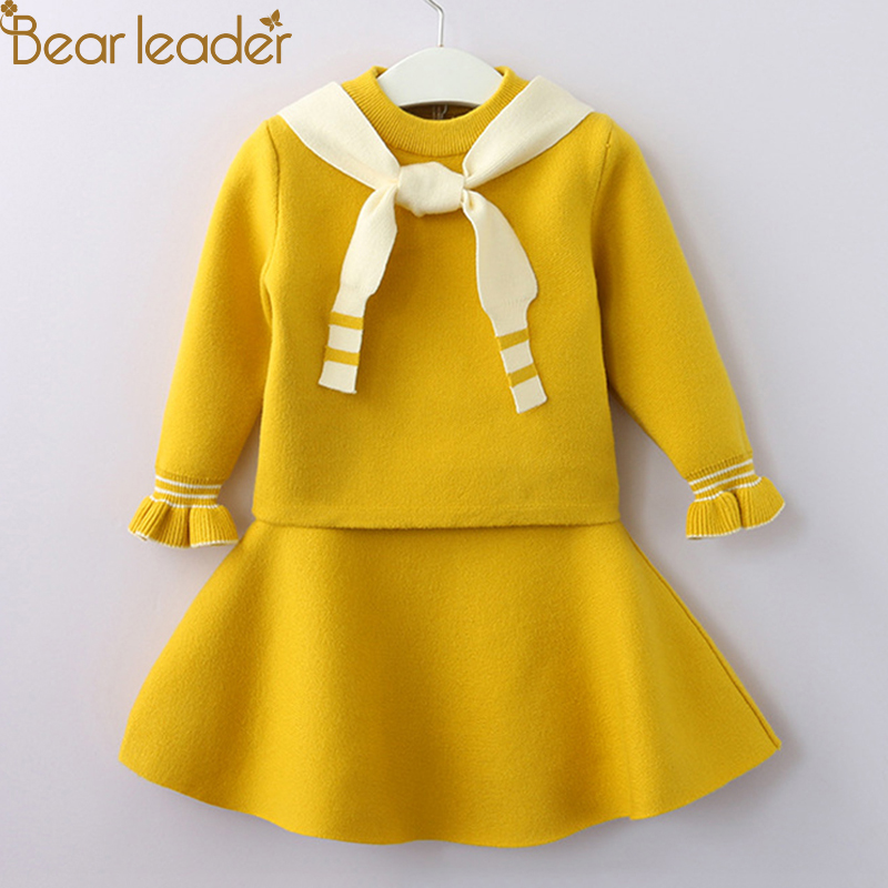 Bear Leader Girls Kleding Sets 2018 Mode Meisjeskleding Lange mouw - Kinderkleding