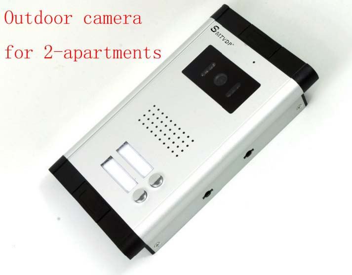 SMTVDP Apartment Video Door Phone Camera Intercom IR Night Vision Doorbell for 2 Units Apartment Suitable 2-Stories Building
