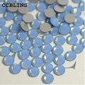 CCBLING Rhinestone crystal Blue Opal ss6-ss12 Cola Na Non Hotfix Flatback pedrinhas nail art decorações de cristal DIY