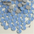 CCBLING Rhinestone crystal Blue Opal ss6-ss12 Glue On Non Hotfix Flatback rhinestones nail art crystal decorations DIY