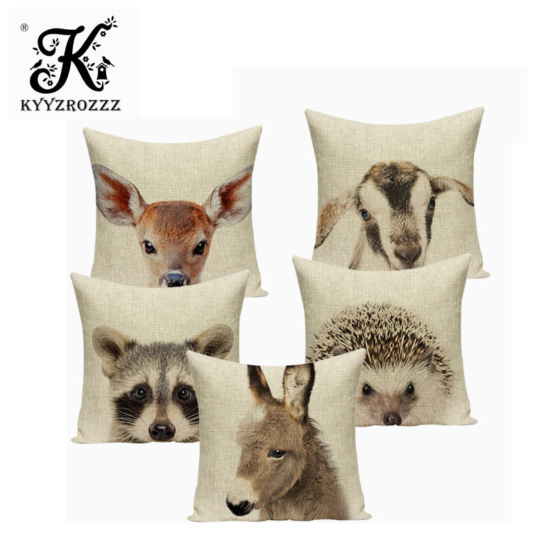 Animal Owl Pillow Cover Pillow Covers Decorative Lovely Throw Pillows Little Tiger Print Cushions For Sofa Custom Cover Cushion Cushion Cover Aliexpress