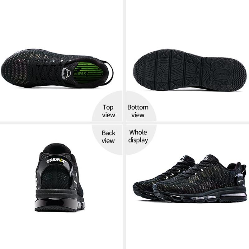 ONEMIX Réfléchissant Dessus Air Chaussures de course Pour Hommes Baskets Légères Femmes de Marche Sports de Plein Air de Sport Formateurs - 3