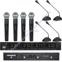 First-Class Digital Wireless Meeting Conference Audio Microphone Mic System - with 4 Desktop Gooseneck 4 Handheld Mic guess what 4 class audio cds