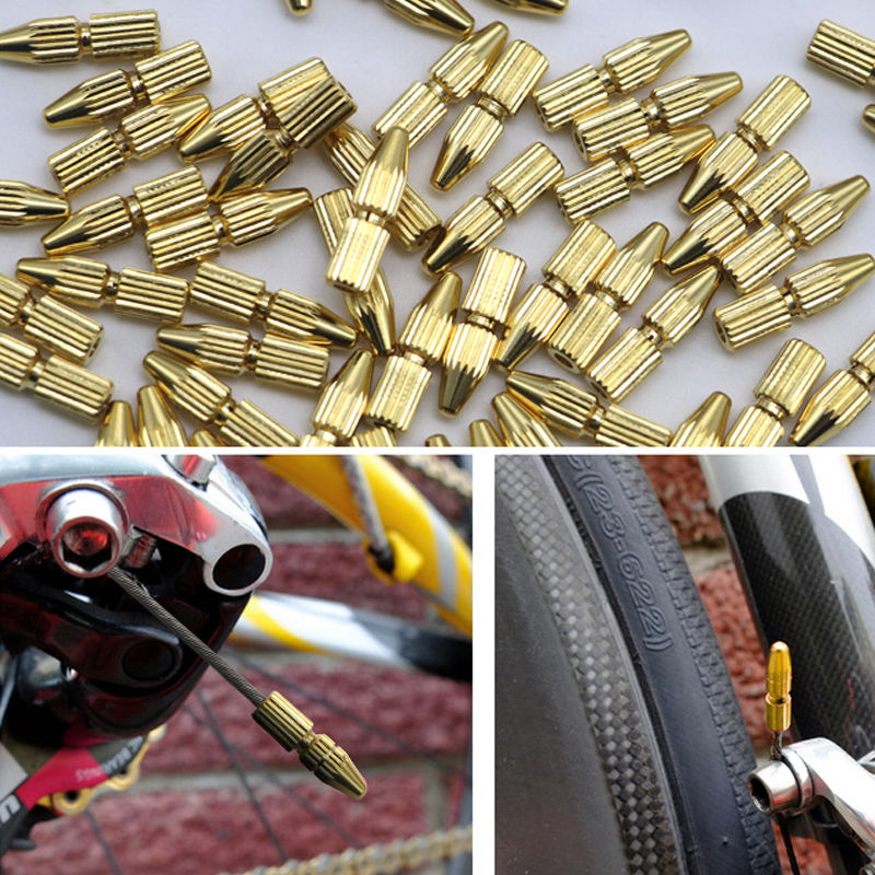 US $2.24 10% OFF High quality  Copper  Bicycle Brake Shifter  Cable End Caps Cable Tips Wire End Cap Fits for Brake & Shift Derailleur Cable brake shifter brake bicycle brakes for bicycles - AliExpress