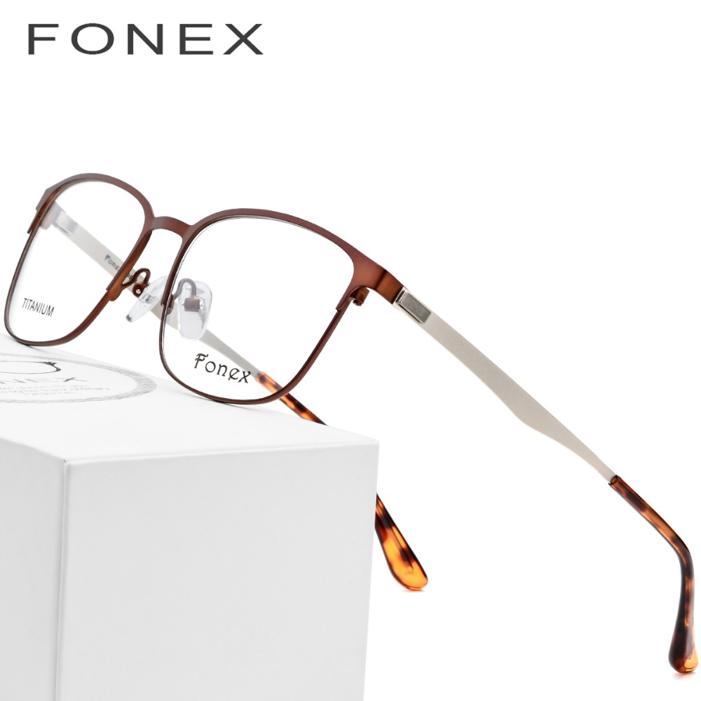 86aac3c38af Titanium Alloy Glasses Frame Women Round Prescription Eyeglasses 2018 Men  Vintage Myopia Optical Frames Korean Screwless Eyewear-in Eyewear Frames  from ...