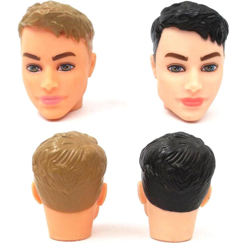 NK 2019 nouvelle tête de poupée de mode noir et peau normale garçons tête bricolage accessoires pour Barbies poupée garçon Ken Doll' Body JJ