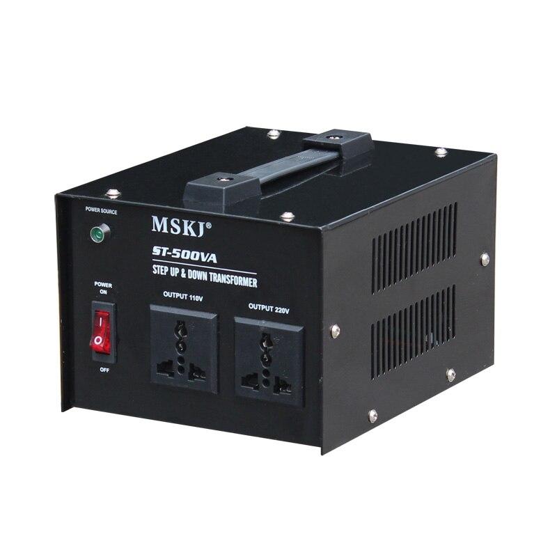 цена на ST-500 Step up & down transformer 110v to 220v voltage converter / electronic power transformer