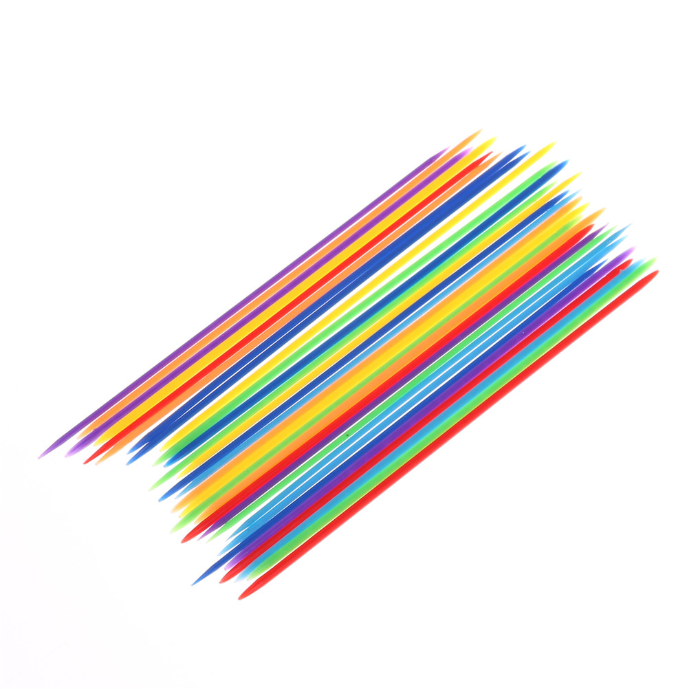 30PCS Colorful Plastic Traditional Mikado Spiel Pick Up Sticks With Box Game Kids Gifts Baby Children Educational