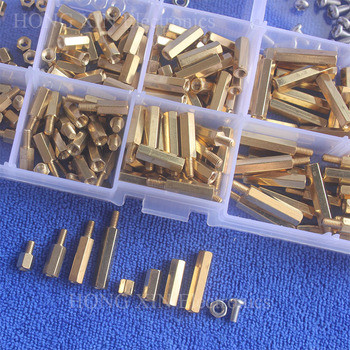 300pc New M2/M3 Brass Spacer Standoff Hex Column Screw Nut Assortment Kit With Box Mayitr 50pcs lot m2 3 4 5 6 7 8 10 11 12 13 14 15 16 17 18 19 20mm brass round standoff spacer female female m2 brass threaded spacer
