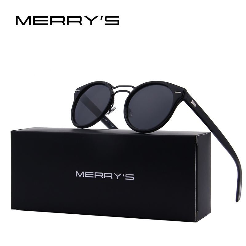 MERRY S font b Fashion b font Women Sunglasses Brand Designer Retro Oval Men Classic Double