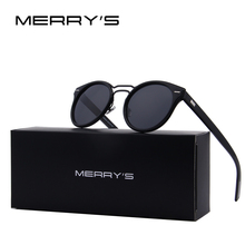 MERRY'S Fashion Women Sunglasses Brand Designer Retro Oval Men Classic Double-Bridge Polarized Shades S'8090
