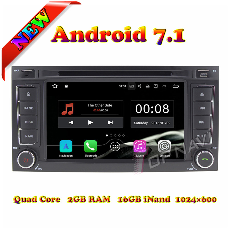 Topnavi 7 1024*600 Quad Core 2G+16GB ndroid 7.1 Car DVD Player Radio for VW Touareg Stereo GPS Navigation Touch Screen 3G Wifi