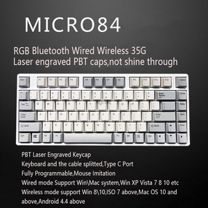 Image 2 - RGB Plum 66 75 84 87 108 Bluetooth 4.0 USB Dual Mode 35g Realforce Structure Capacitive Keyboard Free shipping