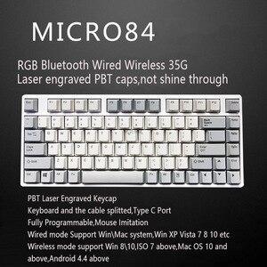 Image 2 - RGB Plum 66 75 84 87 108 Bluetooth 4.0 USB podwójny tryb 35g Realforce struktura pojemnościowy klawiatura darmowa wysyłka