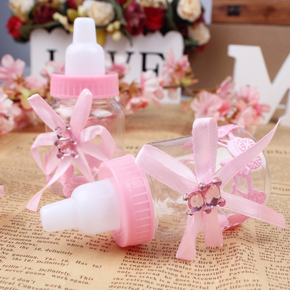 50pcs/lot Baby Bottle Candy Box Party Supplies Baby Feeding Bottle ...