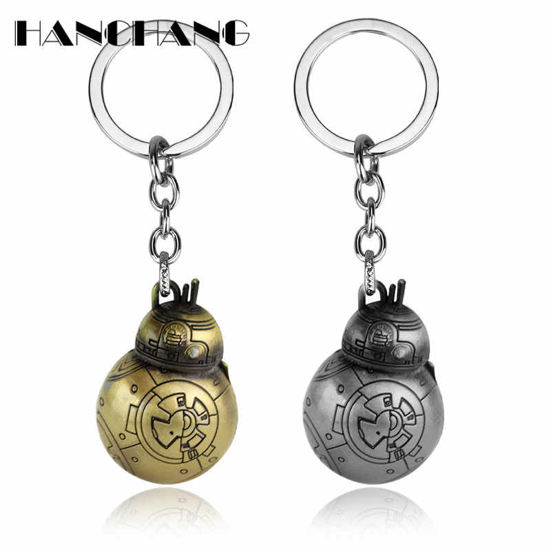 Movie Jewelry Keyring Star Wars The Force Awakens BB8 R2D2 Droid Robot Key Holder Action Figure stormtrooper Keychains Key Chain