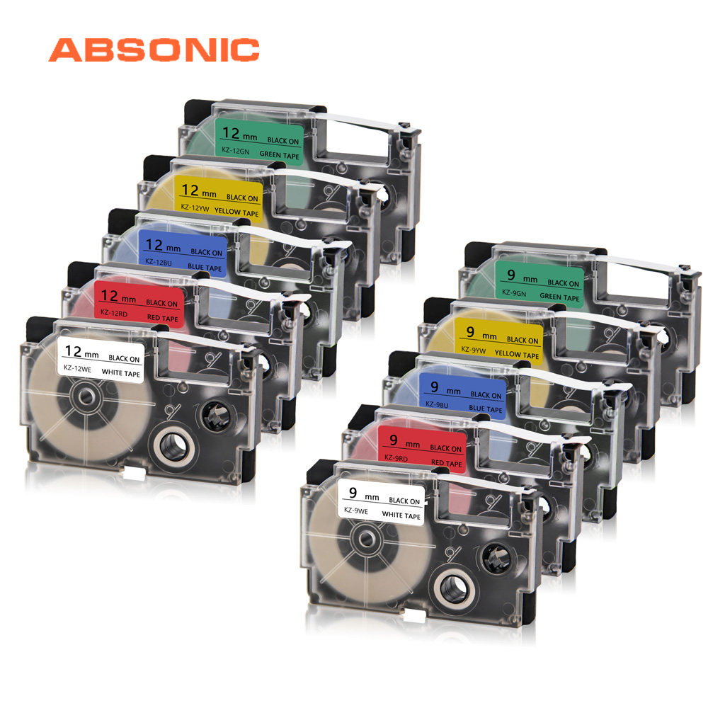 It is a photo of Eloquent Casio Xr 9we Label Tape