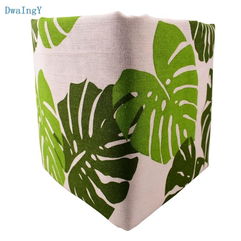 DwaIngY ירוק עלים מודפס כותנה פשתן בד DIY תפירת Quiltin ספה/שולחן בד ריהוט כיסוי רקמות כרית חומר