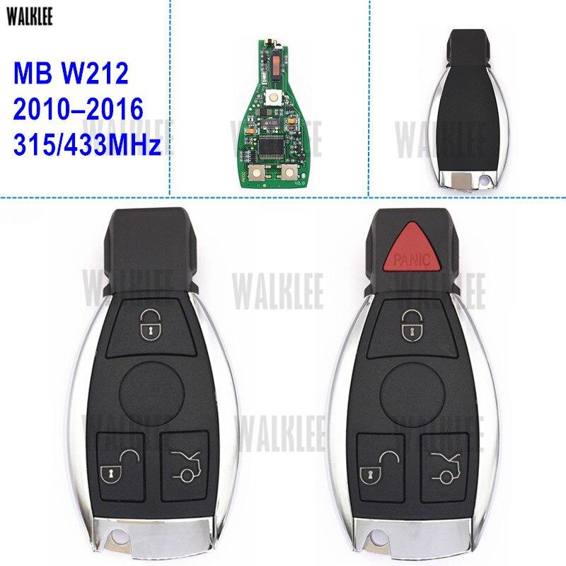WALKLEE Smart-Remote Key für Mercedes Benz E-KLASSE W212 BlueTec AMG CDI 4 MATIC E220 E200 E250 E300 E350 E400 E500