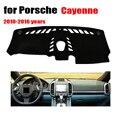 RKAC крышка приборной панели автомобиля/наклейки для Porsche Cayenne с компасом 2010-2016 лет левая накладка на руль аксессуары