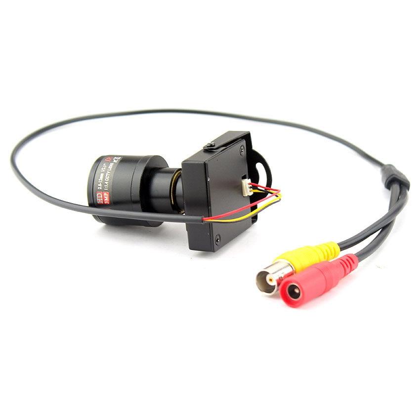 Image 4 - 1000TVL Varifocal Lens Mini Camera 2.8 12mm Adjustable Lens+RCA Adapter Security Surveillance CCTV Camera Car Overtaking CameraSurveillance Cameras   -