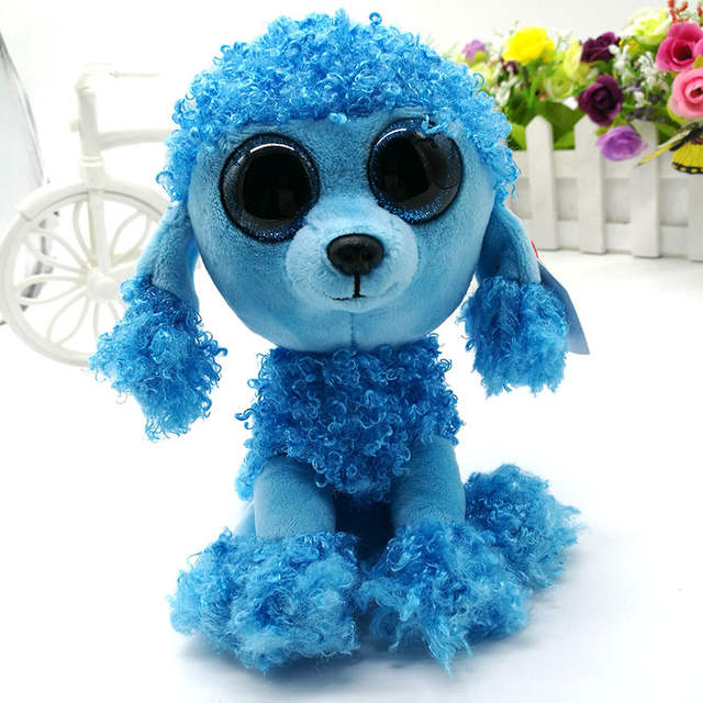 4689bcc474c placeholder 15cm Ty Original Beanie Boos Mandy Poodle Plush Toy Soft Stuffed  Animal Doll Big Eye Kids