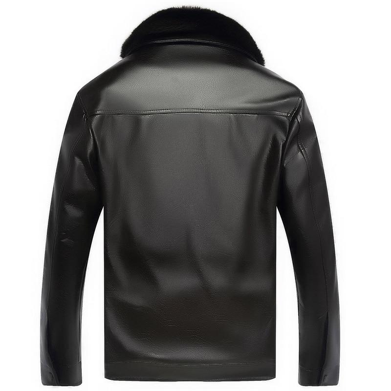 Men New Winter Locomotive Jacket Old Men's Cashmere Fur Leather ...