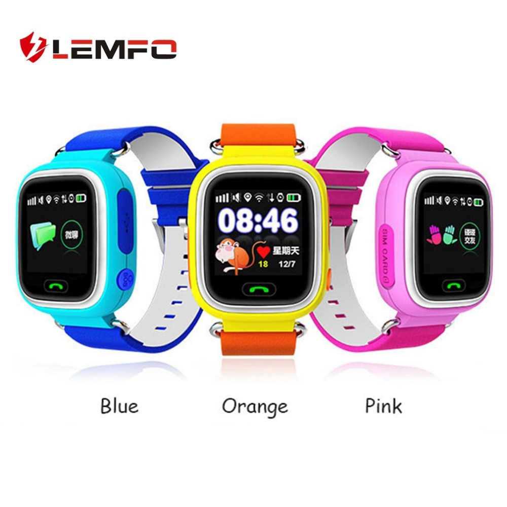 LEMFO Q90 GPS Smart Watch Baby Watch with Touch Screen SOS Call Location Device Tracker for Kid Safe Anti-Lost Monitor gps smart watch q750 q100 baby gps smart watch with 1 54 inch touch screen sos call location device tracker for kid safe pk q80
