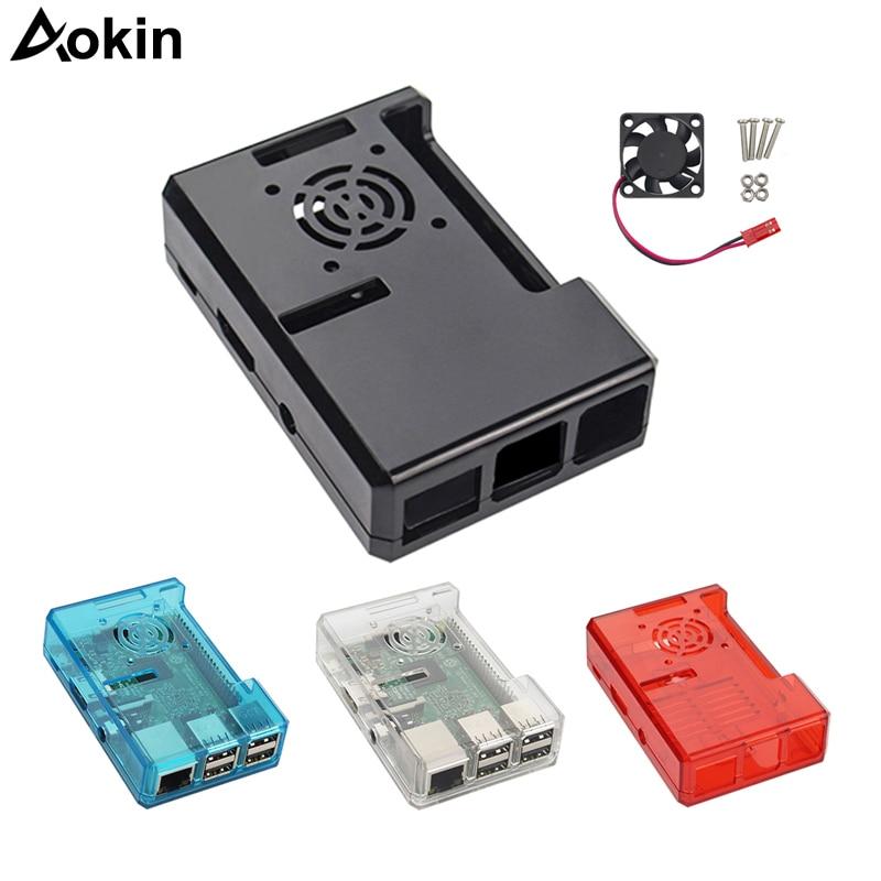 Raspberry Pi Case Fan Transparent ABS Plastic Cases For Raspberry Pi 3/2 Model B B+ Case Fan