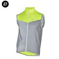 Rockbros Mens Cycling Jacket Windproof Cycling Vest Sleeveless MTB Road Bike Jacket Reflective Bicycle Jacket Cycle