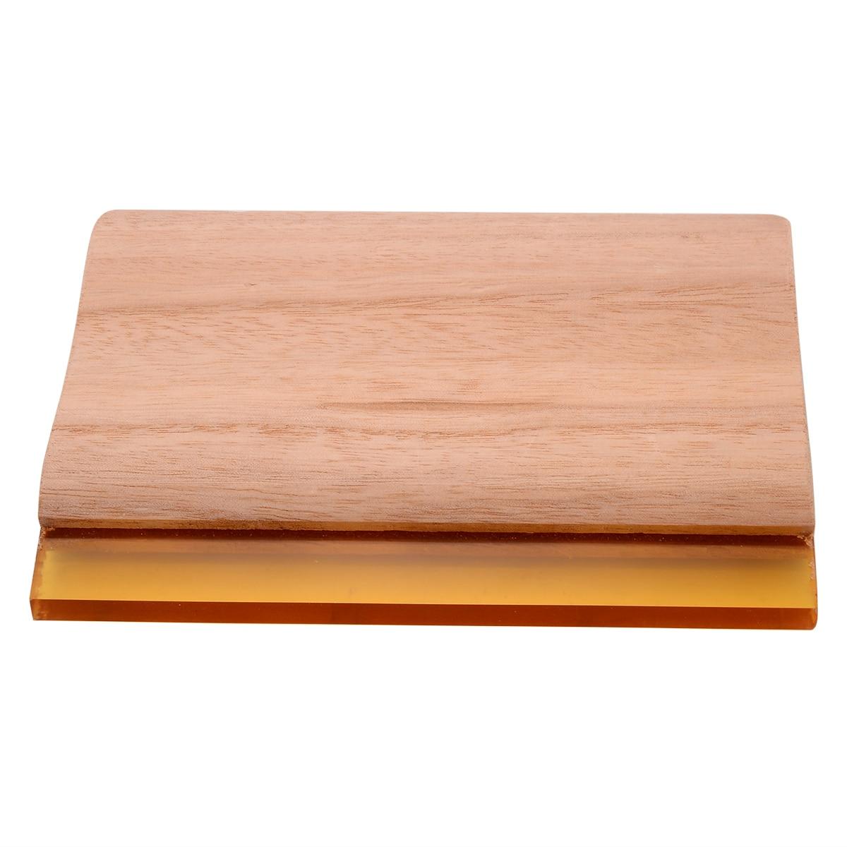 6 pulgadas de longitud Serigrafía Escurridor Mango de madera Seda - Piezas para maquinas de carpinteria - foto 2