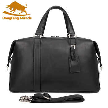 Brand New Genuine Leather Men Travel Bags Carry on Luggage Bags Men Duffel Bags Travel Tote Large Weekend Bag Overnight Portable - DISCOUNT ITEM  40% OFF All Category
