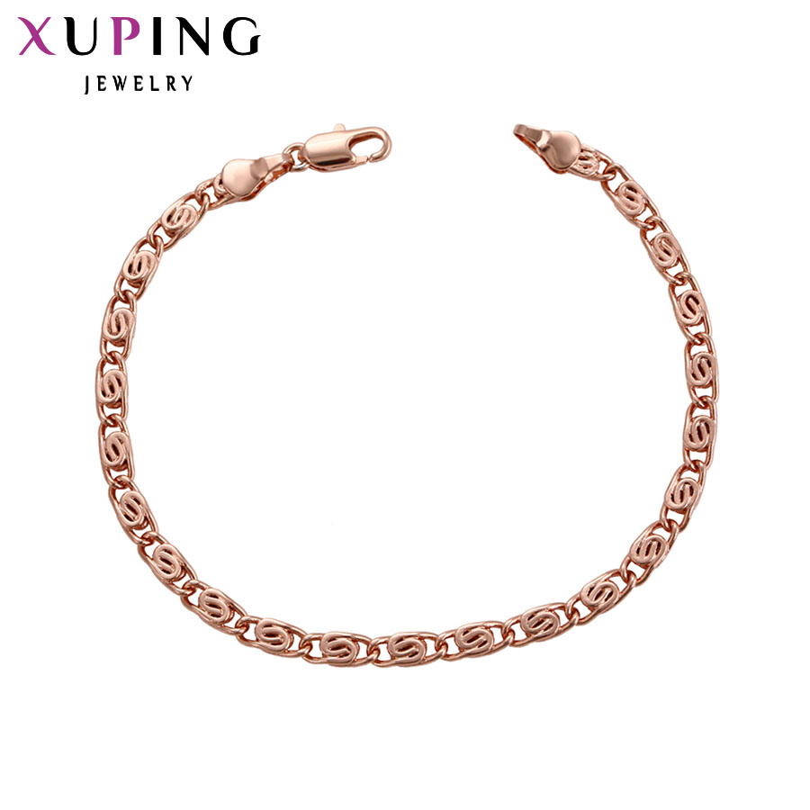 Xuping New Style Bracelet Jewelry Rose Gold Color Plated With Environmental Copper for Women Mothers Day Gift S91,6-75417